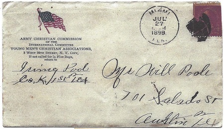 Army Christian Commission Envelope