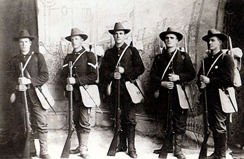 1st Idaho Volunteer Infantry, Co. D, 1898