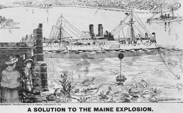 Newspaper theory on the loss of the U.S.S. Maine