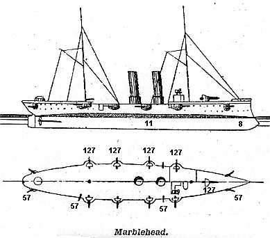 U.S.S. Marblehead Profile and Plan
