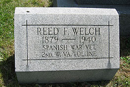 Grave of Reed F. Welch, 2nd West Virginia Vol. Infantry