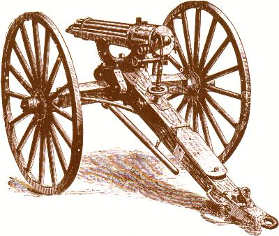 Gatling Gun Illustration