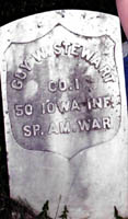 Grave of Guy W. Stewart, 50th Iowa Volunteer Infantry