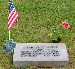Grave of Charles E. Little, Hospital Steward int he Spanish American War